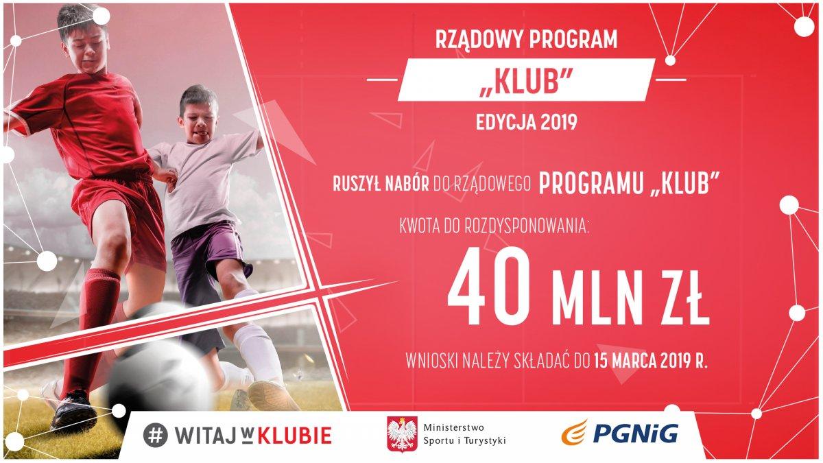"""Rządowy Program """"KLUB"""" 2019"""