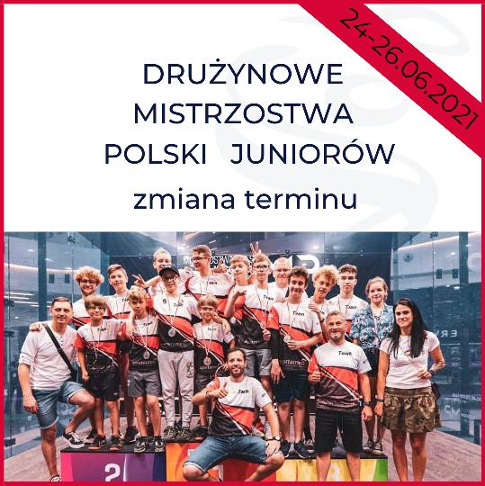 Drużynowe Mistrzostwa Polski Juniorów - zmiana terminu
